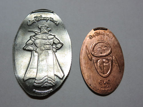 Pressed quarter (with the Emperor Zurg!) - it's a lot bigger than a penny