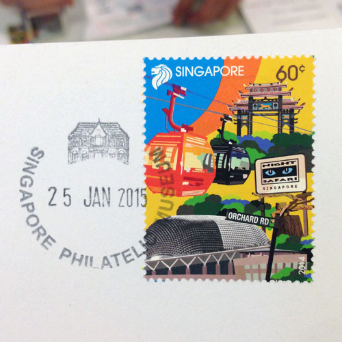 With a fun stamp featuring some of our tourist attractions